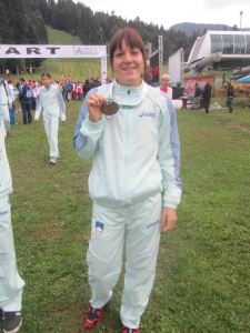 lea z medaljo