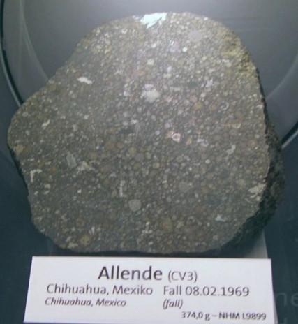 Allende je najbolj znan primerek ogljikovega hondrita