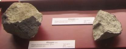 Meteorit, ki je padel na Alep - danes vojno območje v Siriji