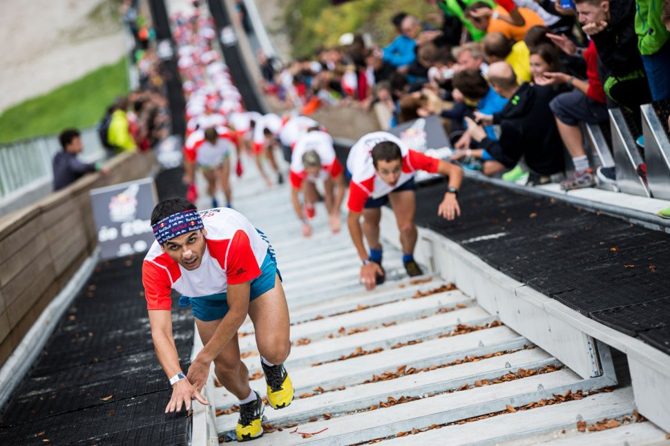 Ahmet Arlsan competes during the Red Bull 400 in Planica, Slovenia on September 19, 2015