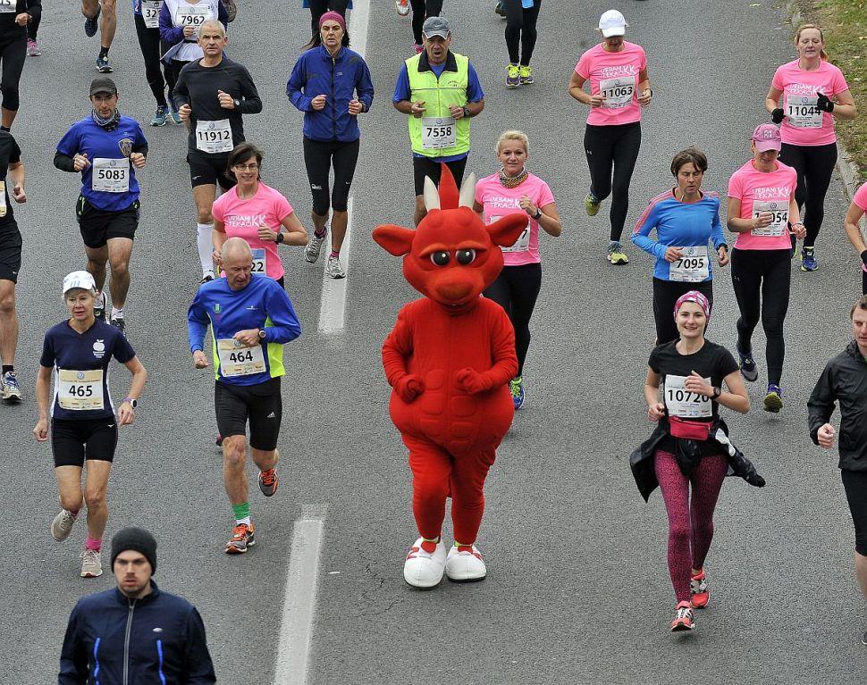 Slovenija, Ljubljana, 25.10.2015, 25. Oktober 2015 Ljudje tecejo na 20. Ljuljanskem maratonu, sport, maraton, Ljubljanski maraton Foto:Borut Zivulovic/BOBO