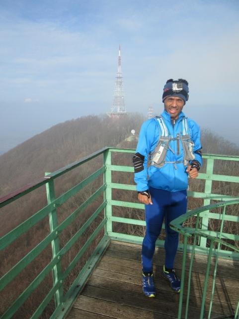 Na razglednem stolpu na Boču
