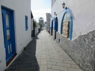 Ozke uličice v vasi
