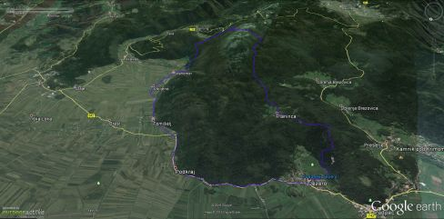 Pot s Podpeškega jezera na Krim