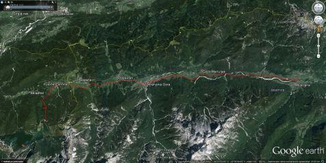 Trasa kolesarske steze Jureta Robiča