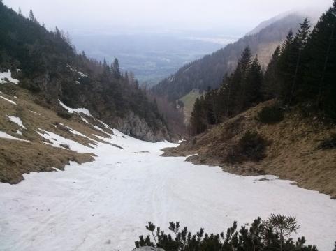 Snežišče nad planino Javornik