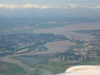 Reka Mersey z Manchesterskim kanalom