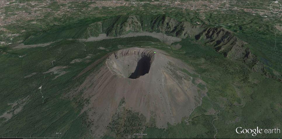 Vezuv s kaldero