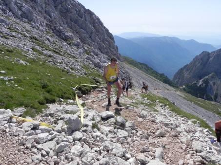 Proti vrhu Grintovca (Foto: Andrej Jeglič)