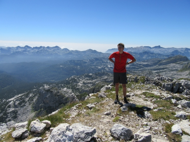 At the top of mount Lepo Špičje