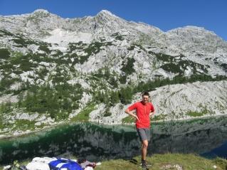 Ledvica lake (Kidney lake) - the biggest of all Triglav lakes