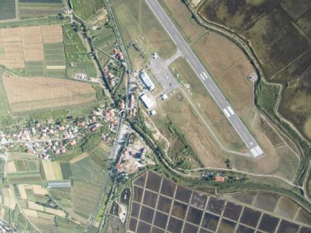 Pogled na Letališče Portorož iz zraka