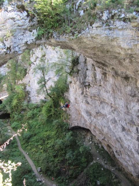 Spust iz Malega naravnega mostu