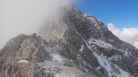 Pogled proti vrhu Triglava