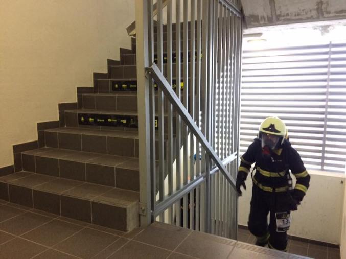 Tek gasilcev v polni bojni opremi (Foto: Alive step up)