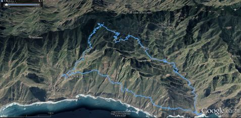 GPS sled teka po džungli Anaga