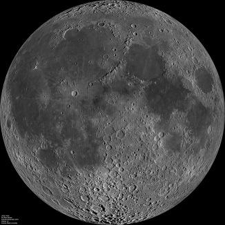 Mozaik Lune (NASA / GSFC / Arizona State Univ. / Lunar Reconnaissance Orbiter)