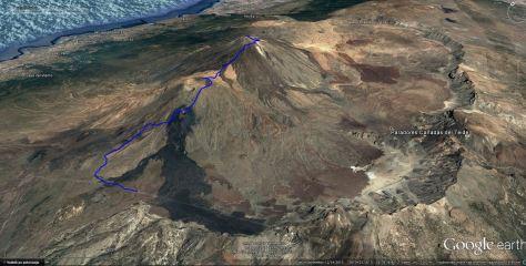 GPs sled vzpon na Teide prek Pico Viejo