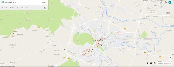Google pravi da sem največ časa v letu 2016 prebil na Viču v Ljubljani