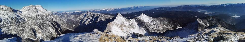 Panorama iz Velikega Draškega vrha