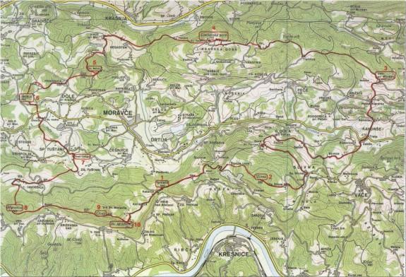Moravška planinska pot (Vir: https://goo.gl/85gwe3)