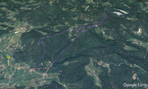 Trasa na Tošč in Grmado