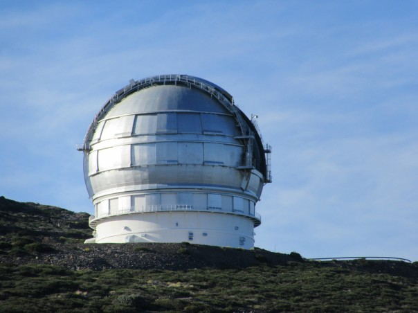 Gran Telescopio Canaries je s premerom zrcala 10.4 m trenutno največji optični teleskop na svetu