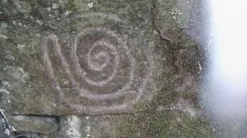 Petroglif v parku La Zarza