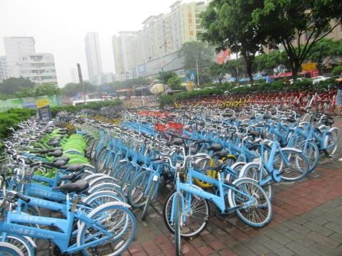 Nekaj izmed milijon koles za izposojo