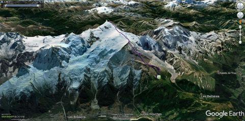 Normalni pristop na Mont Blanc