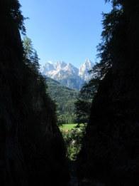 Pogled na Martuljške gore iz soteske