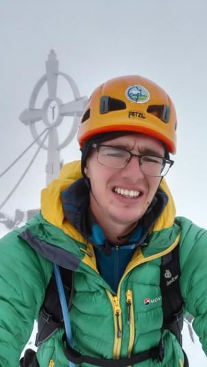 Bil sem edini v celem dnevu na vrhu Glödisa