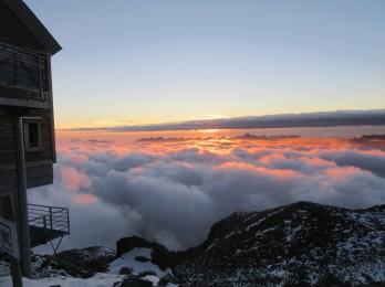 Sončni zahod nad 3000 m