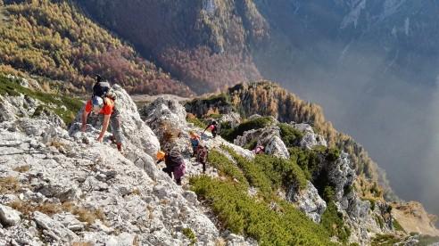 Razgled na prehojen greben