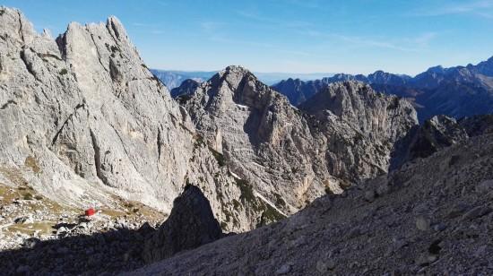 Bivak Gorizia in vrh Nebeška lojtrica
