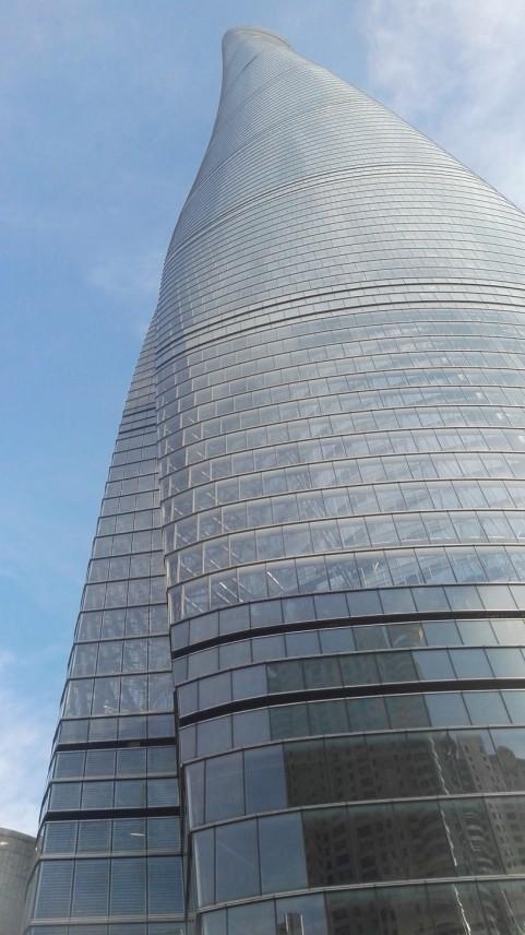 Pogled iz štarta proti vrhu Shanghai Towera