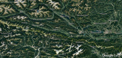 Lokacija gorovja Kreuzeckgruppe