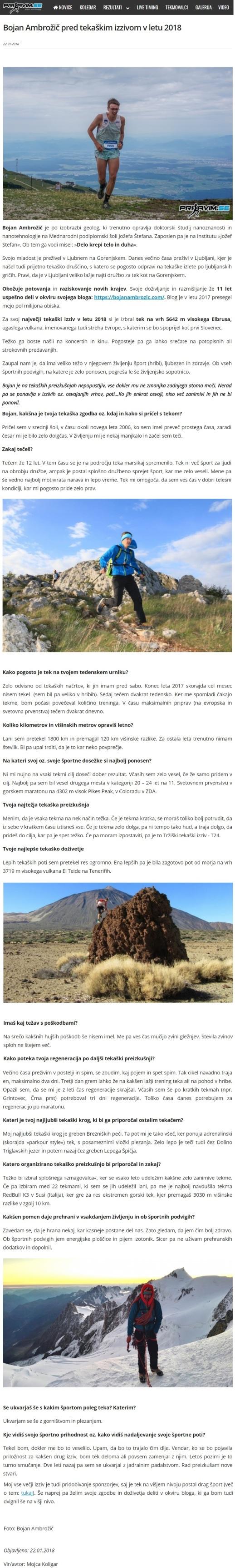 Intervju Prijavim. se, Mojca Koligar