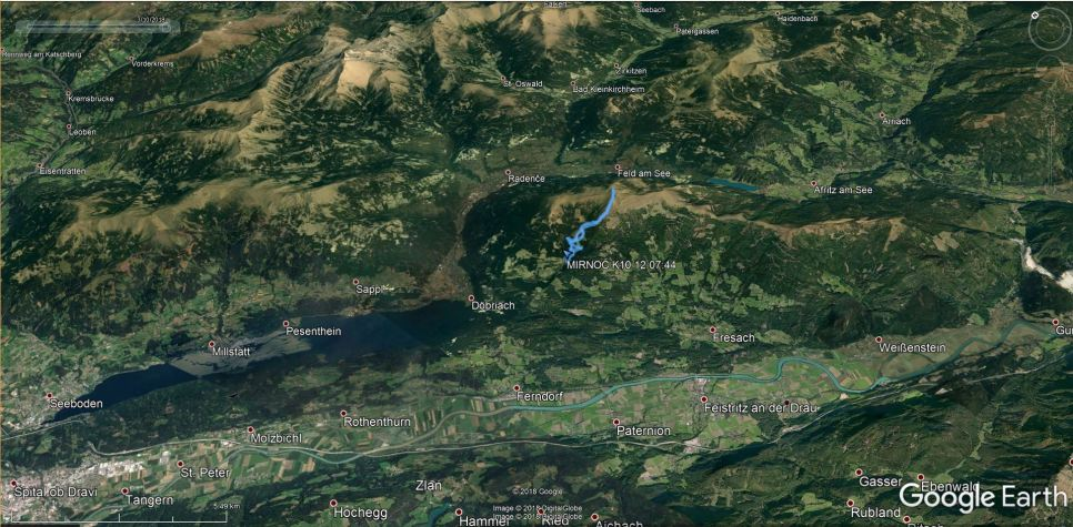 Mirnock in Milštatsko jezero