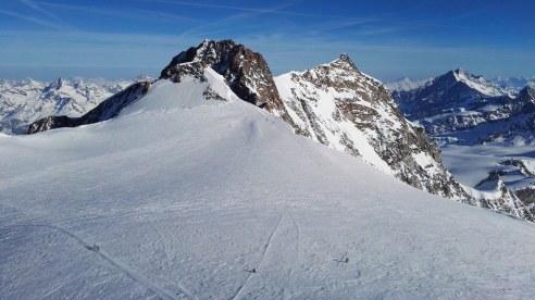 Zumsteinspitze in Dofourspitze