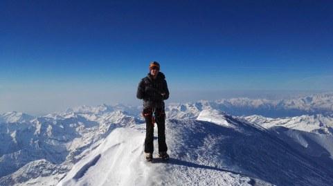 Na vrhu signalkuppe (4554 m)