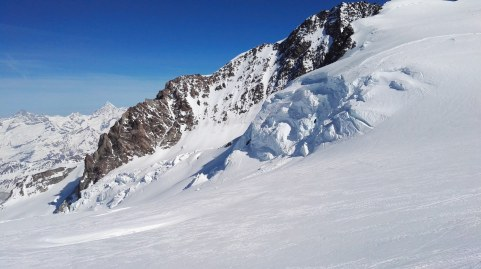 Začetek ledenika Gorner