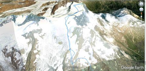 Monte Rosa po Italijanski normalni smeri