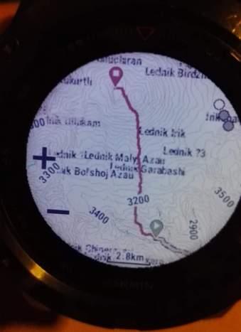GPS track poti na Elbrus