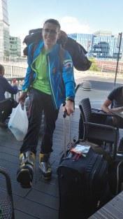 Na letališču mi je bilo v gojzarjih Spantik pošteno vroče