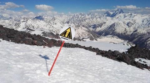 Smučanje čez ledeniške razpoke