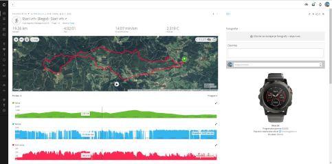 GPS sled v Aplikaciji Garmin Connect