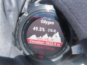 Prikazovalnik količine kisika na trenutni nadmorski višini