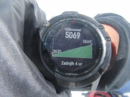 Dosežena višina na drugi aklimatizacijski dan