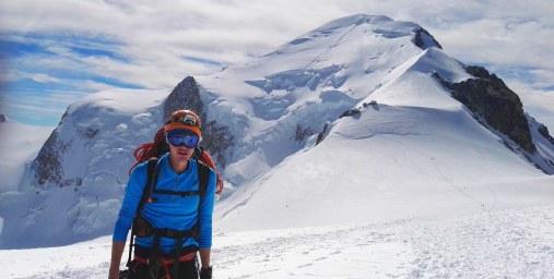 Smučarska očala med vzponom na Mont Blanc